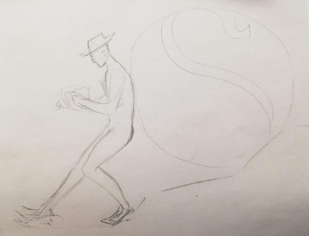 szkic Syzyf