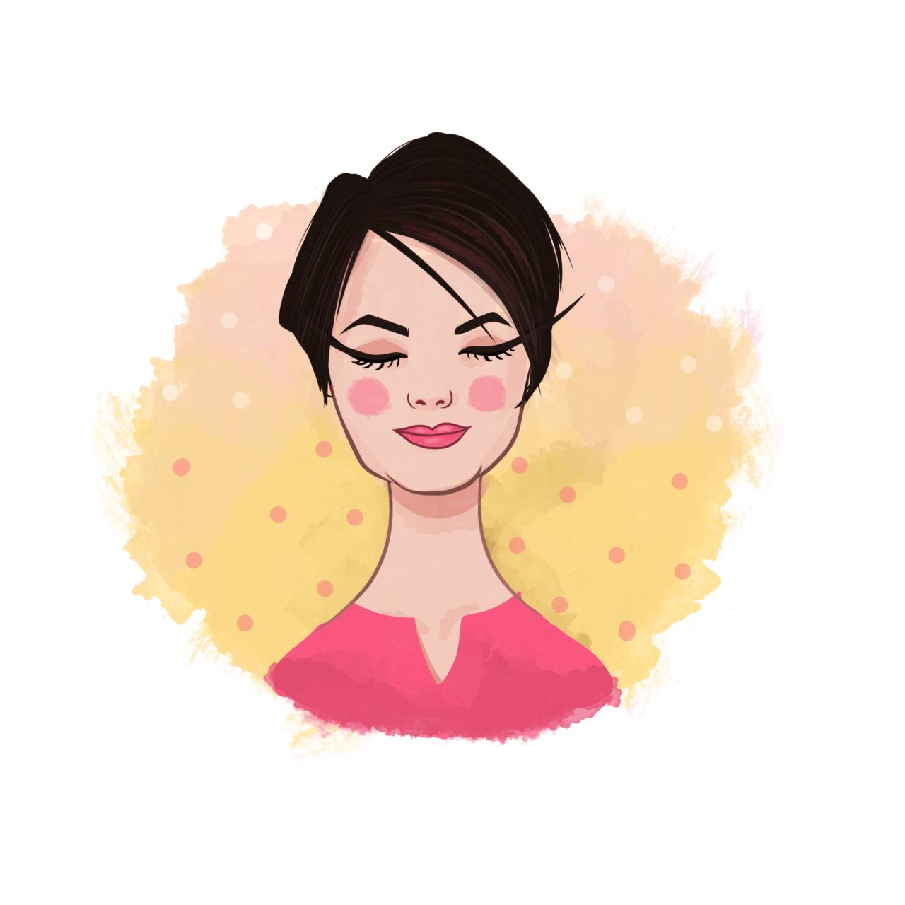 Portret akarelowy DIY