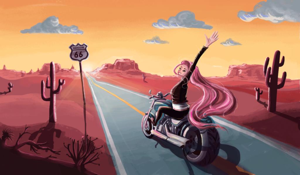 dobrane kolory - Route 66